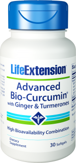 Advanced Bio-Curcumin® with Ginger & Turmerones Turmeric Extract